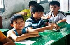 快乐教育公益活动, 为岑松小学备冬衣