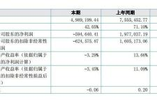 鑫度武术2018上半年营收498.92万元,净亏损59.46万元