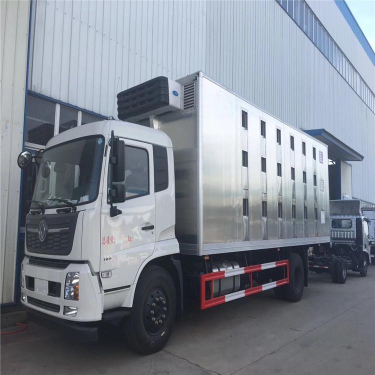 5米2牲畜跨省调运备案车卸货自检新规拉猪车