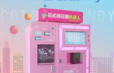 青海省全自动棉花糖售卖机组图