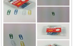 华普达0024彩色回形针 曲别针 通用回形针 工字工字钉 图钉