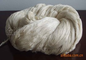 纱线 绢丝粘胶纱60NM/2 55绢丝45粘胶 绢丝粘胶混纺纱