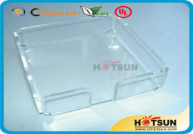 厂家供应高品质有机玻璃塑料便签盒、办公便签盒、自动便签盒定做