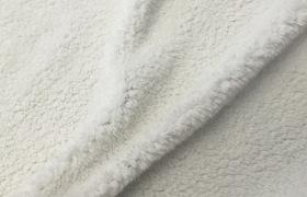 北极绒 白色羚羊绒 舒棉绒 羊羔绒 毛绒 针织双面绒布