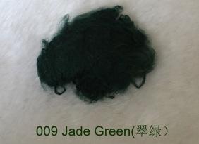彩色黏胶短纤1.2Dx38mm浅绿37原液纺色牢度高染色均匀