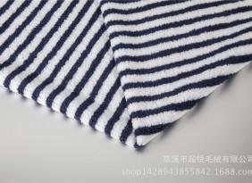 厂家直销高品质夹色条全涤羊羔绒 条形清晰质感丰富