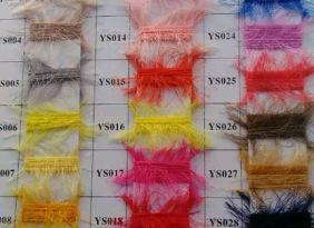 厂家直销 羽毛纱1.3公分 锦纶毛线 花式纱 大量现货