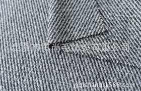 16027|厂家现货直销斜纹粗花呢 中性风 黑白灰两色【断货】