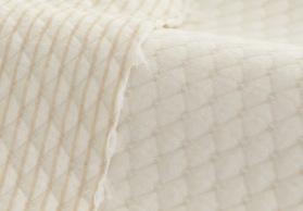 现货供应 天然有机彩棉提花空气层 夹丝面料  天然环保面料