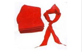 厂家直销 大红棉布 尼龙纺红领巾 中棉红领巾
