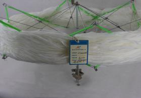 汇彩纺织 现货供应扁带纱腈尼四经一纬带子纱轨道纱 花式纱线
