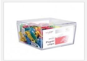 瑞利夫方形盒塑胶纸夹 R2103 300粒/盒 塑料票夹