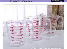 欧标双面刻度塑料量杯 PS量筒 带刻度量杯量筒 600ml量杯