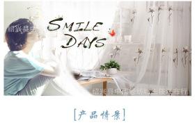 2016春季新款木棉花窗纱 韩式成品定制客厅卧室清新窗帘布批发