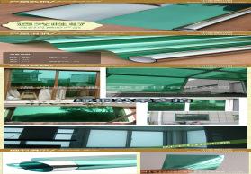 办公室窗户玻璃贴膜 防爆防晒玻璃pet薄膜 绿银装饰膜批发