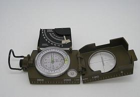 批发高度精密测绘指南针 K4074多功能户外指南针 带倾斜仪