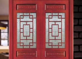 防霉隔音优质烤漆门 酒店卧室复合套装实木门 古典橡木雕花玻璃门