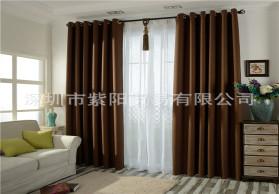 窗帘布厂家直销 棉麻纯色遮光麻料工程窗帘批发支持零剪 棉麻纱