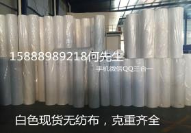 米白色丙纶PP纺粘无纺布 全新颗粒料无纺布 厂家直销 现货充足