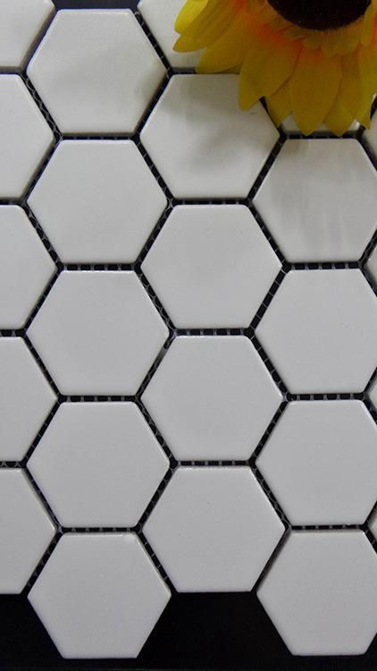 热卖陶瓷马赛克 简约时尚蜂窝状六角形 卫生间背景墙墙地砖