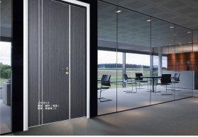 简约韩式生态门 三聚氰胺模压门免漆门 铝框生态门办公室门