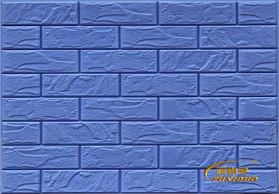 宝石蓝 3D弹性砖墙贴 背景墙墙贴 防潮墙贴