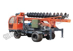 轮式螺旋打桩机_工地用打桩机|360度旋