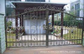 专业生产别墅庭院铁艺大门 花园铁艺门 双开铁艺大门 按需定制10