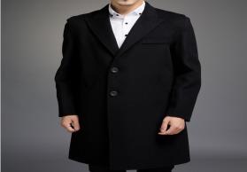 Sailfish厂家直销秋冬季时尚纯色中长款高端男式双面呢羊毛大衣