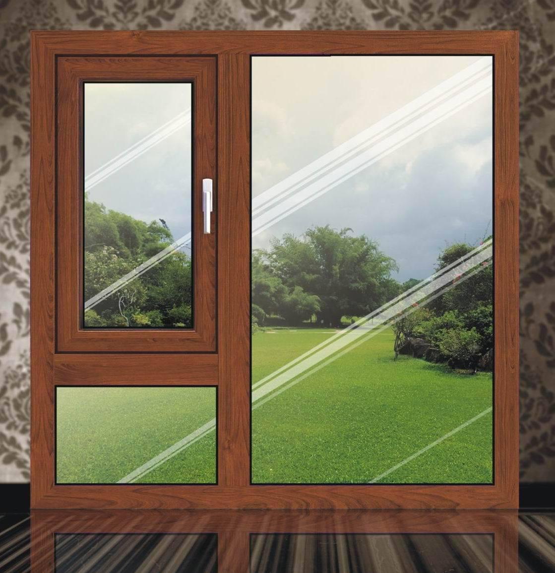 优质高档铝木外开窗/Hinges Window-2