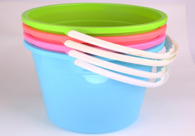苏花家用带把水桶 塑料多色清洁桶手提轻便大号加厚中号厂家批发