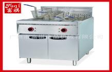 富祺炸雞設備立式雙缸電炸爐DF-26-2 電熱雙缸電炸鍋 歡迎訂購