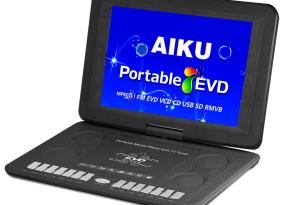 AIKU移动EVD 带TV  AIKU便携式DVD Portabel DVDplayer外单出口