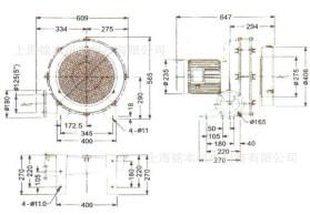 HTB100-505透浦式多段式鼓风机