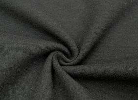 【台湾毛呢】中高端精纺羊毛针织罗纹毛呢 XM1242-黑