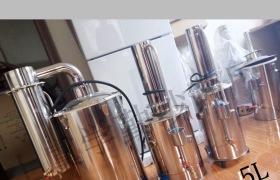 全不銹鋼電熱蒸餾水器5L /5L /5L廠家直銷 蒸餾水機 超純凈水