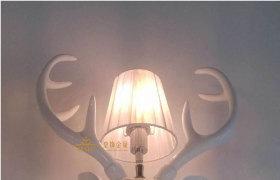酒店ktv个性树脂鹿头壁灯  创意非标工程宾馆会所走廊过道墙壁灯
