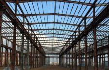 钢结构厂房建造,树脂瓦,钢架工程