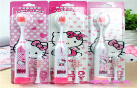 hello kitty保健电动牙刷 KT卡通儿童声波电动牙刷 广州厂家批发
