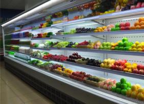 郑州风幕柜定做水果保鲜柜环岛风幕柜