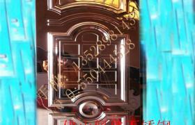 ktv不锈钢门 304不锈钢镜面玫瑰金压花门板  ktv包厢门专业定做