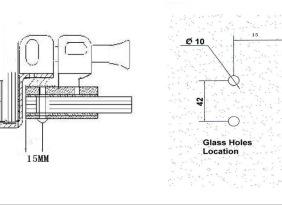 不锈钢玻璃单门磁力锁 玻璃磁力锁 插销锁
