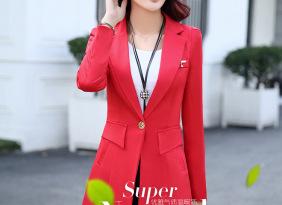 2016秋季新品修身时尚女式西装 韩版收腰小外套