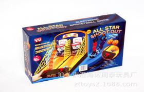新款可投双篮计分带音乐篮球架 儿童益智手动篮球台 互动玩具热销