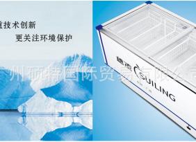 WD4-580系列冰柜 穗凌冷冻冷藏柜 卧式岛式单温冷冻冷藏陈列柜