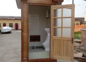 腐实木园林景观式移动厕所 环保厕所 单厕位 打包式