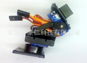供应 模型玩具遥控飞机微型塑料FPV云台 双轴舵机云台迷你支架