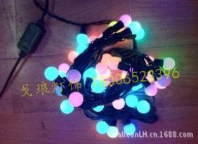 批发led圆球灯串 圣诞装饰彩灯串 闪灯 厂家直销