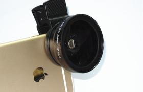 廠家直銷 通用型手機專業37MM 0.45X 49UV超級廣角+微距 夾子鏡頭