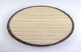 日式蒲团 茶道禅意苎麻手工布艺地垫条纹坐垫打坐垫子圆形飘窗垫